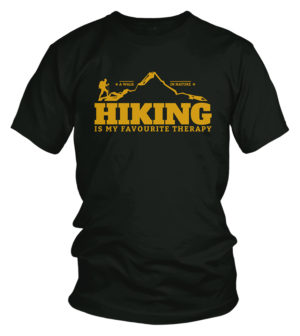 Hiking is my therapy - Travel t-shirt
